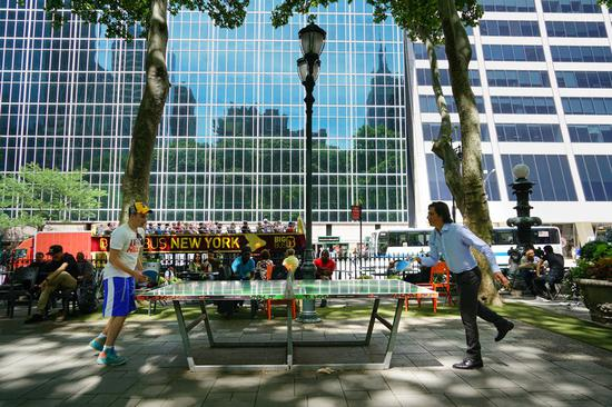 Ping pong becomes popular pastime sport in New York City