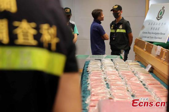 香港海关检获港币八千万元毒品