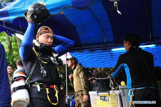 Int'l teams help to rescue Thai footballers lost in cave