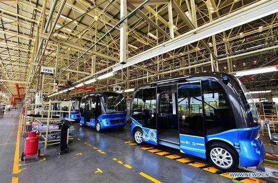 Baidu announces mass production of automated bus