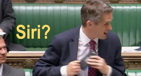 Siri interrupts UK minister in middle of speech in parliament