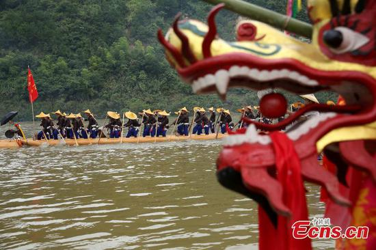 Miao people mark special dragon boat festival