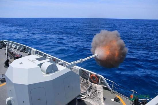 PLA Navy conducts live-fire drills in South China Sea