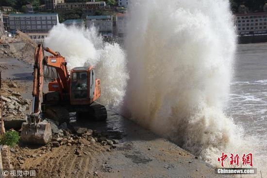 浙江省沿海地区台风玛利亚
