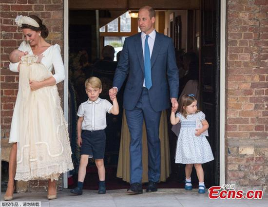 UK royal family gathers for Prince Louis' christening