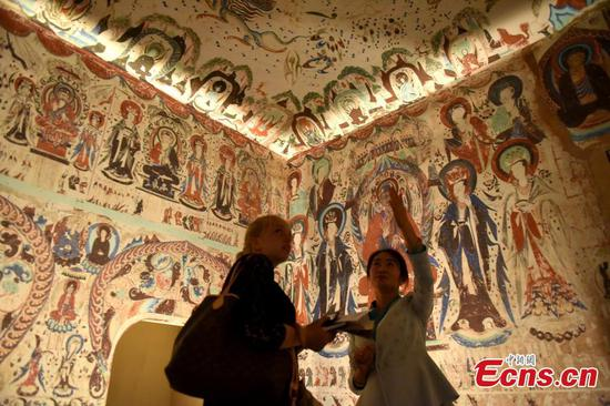 Dunhuang grotto art goes digital in Hong Kong show