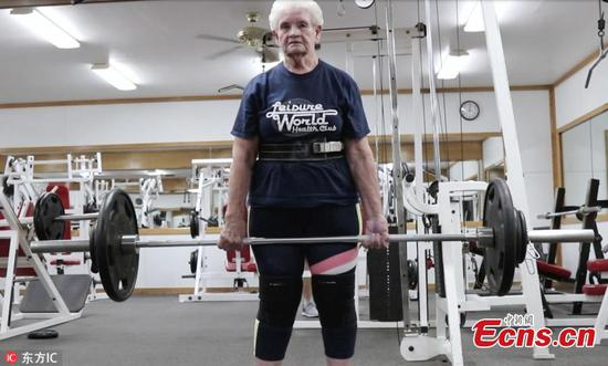 Shirley Webb, 80, can deadlift 115 kg