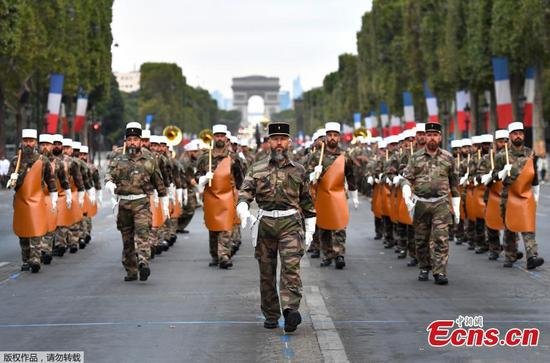 Rehearsal of Bastille day parade in Paris