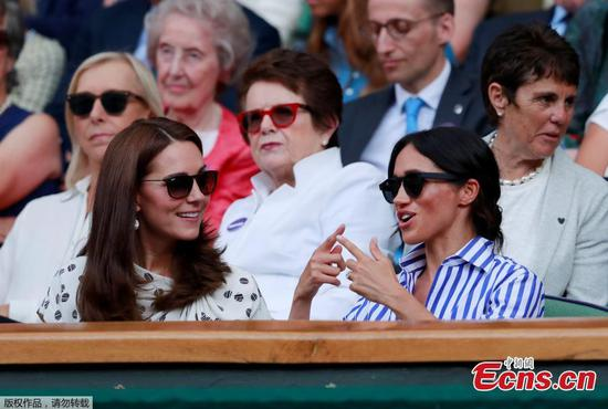 Princess Kate, Duchess Meghan watch Serena Williams match at Wimbledon