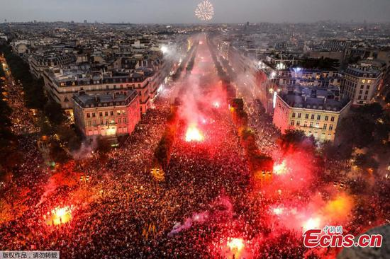 France fans delirious with joy after World Cup win
