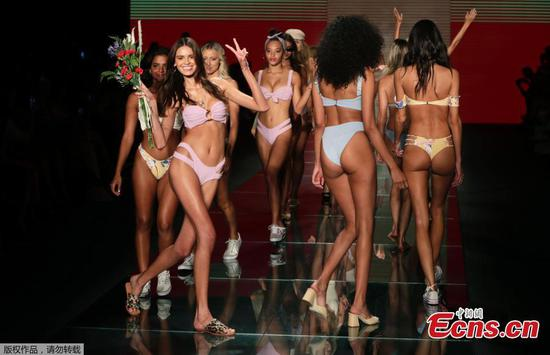 Montce swimwear show at Miami