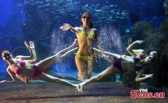 Russian performers bring water ballet to Fuzhou