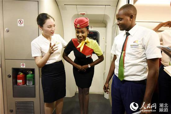 Kenyans study high-speed train service in China