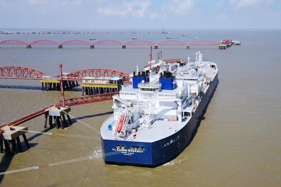 First call ceremony held for ice-breaking LNG carrier at PetroChina LNG Jiangsu Terminal