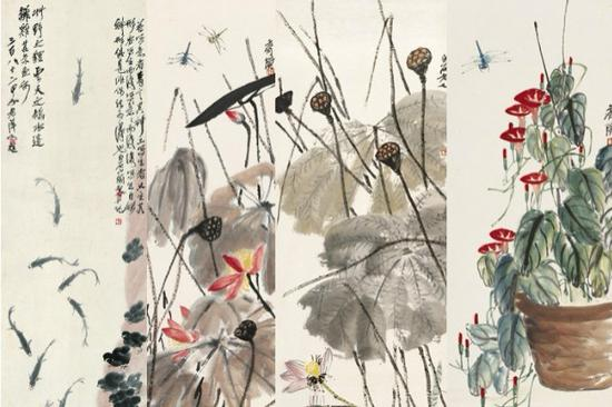 Qi Baishi's works shown at Palace Museum