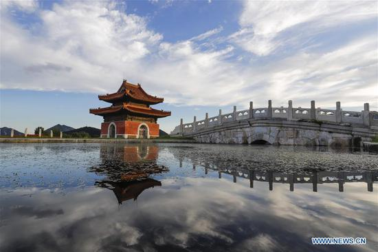 Scenery of Dongling Imperial Mausoleum scenic spot in Hebei