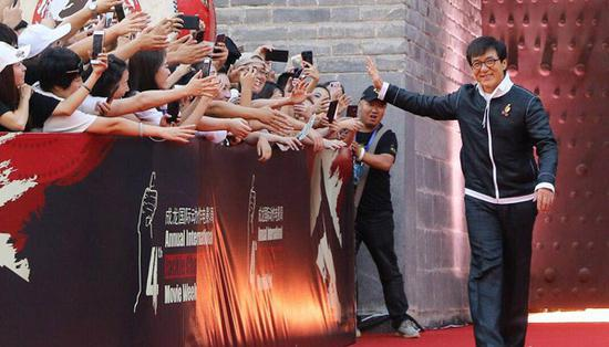 Jackie Chan closes film fest with stunts