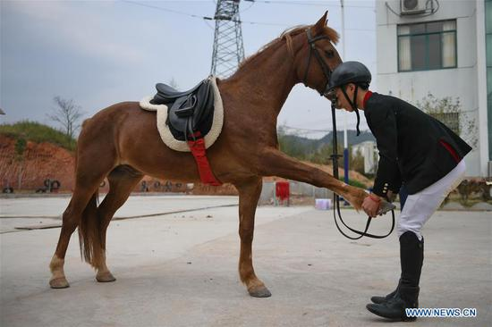 Equestrianism becomes popular among rural teenagers in Jiangxi