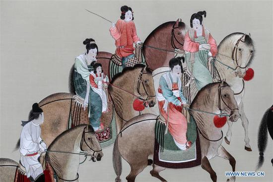 Suzhou embroidery exhibition concludes in Jiangsu