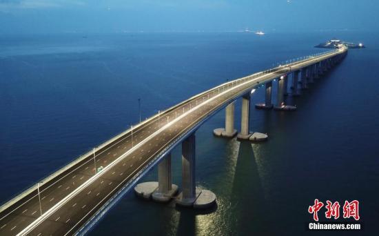 A rendering of the Hong Kong-Zhuhai-Macao Bridge. (Photo/China News Service)