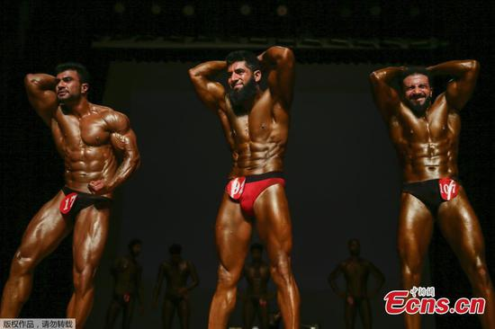 Mr. Kashmir bodybuilding competition in Srinagar