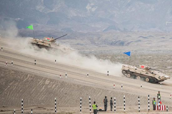 Military games start in Xinjiang, Fujian