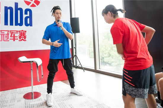 NBA star Jeremy Lin shares tips with young Chinese players