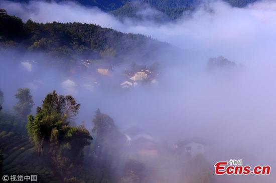 Amazing landscape in ancient village
