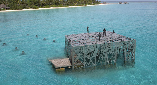 World's first intertidal art gallery opens in Maldives