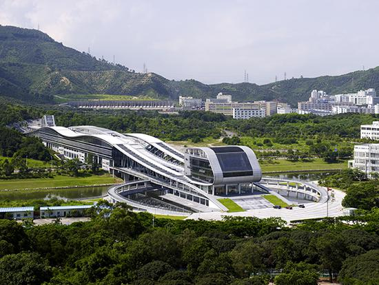 The University Town Library of Shenzhen is also known as the Shenzhen Science and Technology Library. (File photo)