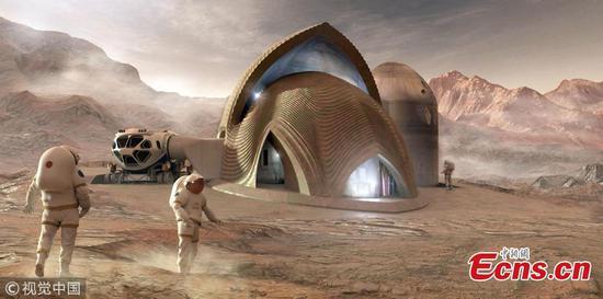 NASA 3D打印的火星设计栖息地获奖者