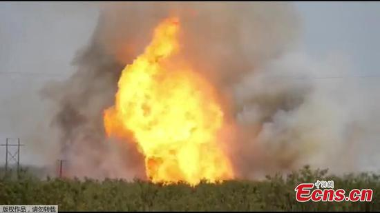 Natural gas pipeline explosion in Texas injures seven