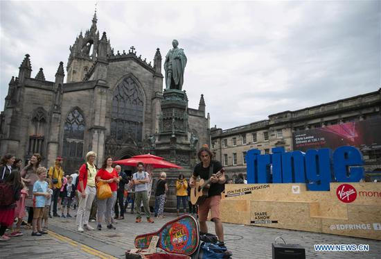 Edinburgh Festival Fringe 2018 held in Scotland, Britain