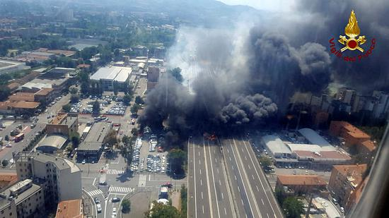 Tanker truck fireball kills two and injures dozens in Italy
