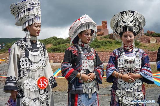 Beauty contest held during torch festival of Yi ethnic group
