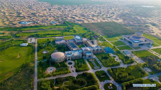 Technological innovation facilitates greening of China's 7th largest desert
