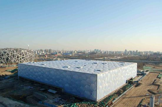From water to ice: The transformation of Beijing's 'Water Cube'