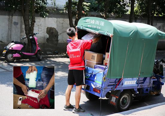 For courier, fast-moving job gets even harder on hot days