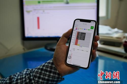 A man uses a mobile phone to search information. (Photo/China News Service)