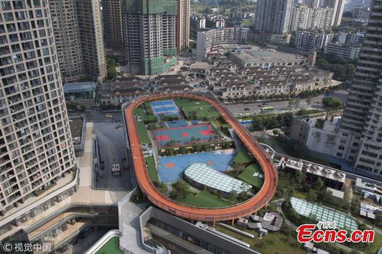 Roof-top sports facility built in Chongqing