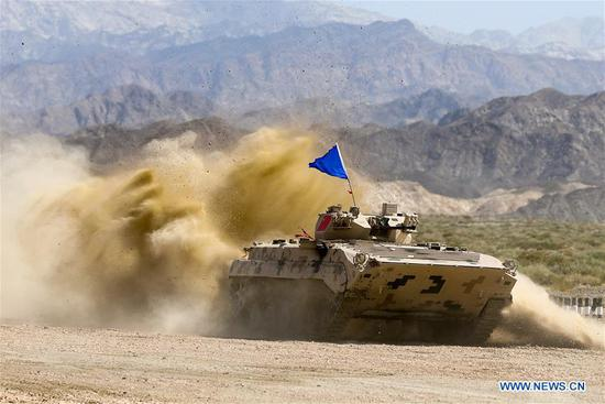 Three contests of Int'l Army Games 2018 end in NW China's Xinjiang