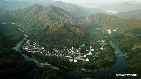 Scenery at dawn in Shitan Village, E China's Anhui