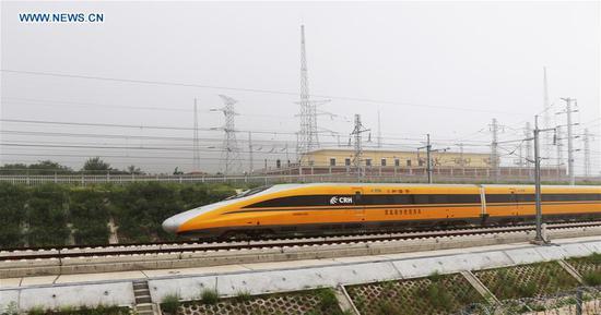 济青高速铁路在中国东部山东开始联合测试
