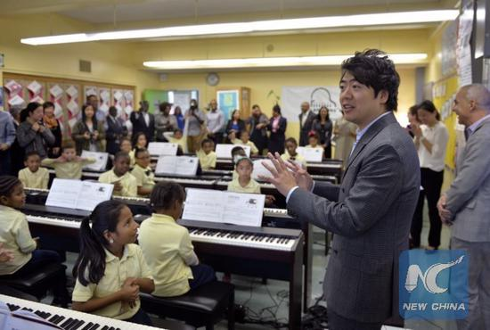 Chinese pianist's music program aims to reach 30,000 underprivileged children in U.S. by 2020