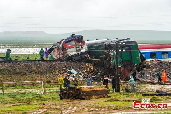 蒙古有328名旅客出轨的火车