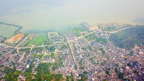 Aerial photo taken on June 11, 2018 shows a scenery of the Taihu Lake in Suzhou city, East China's Jiangsu Province. (Photo/Xinhua)