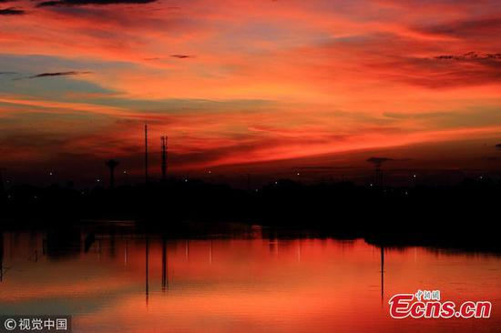 Beautiful clouds hang over East China's Shaoxing after typhoon Yagi