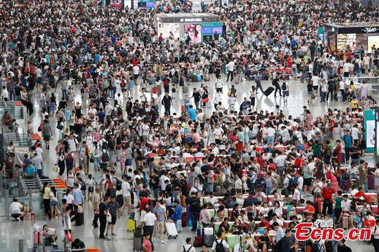 Trains canceled in Shanghai for Typhoon Yagi