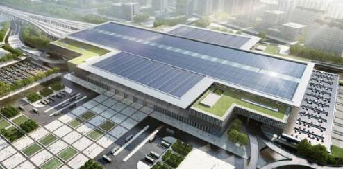 A rendering of the new Fengtai Railway Station. (Photo from the web)
