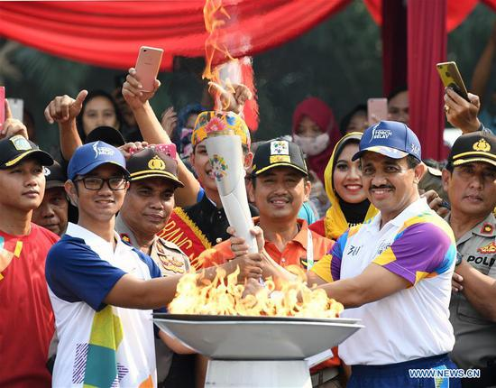 Torch Relay of 2018 Asian Games held in Jakarta